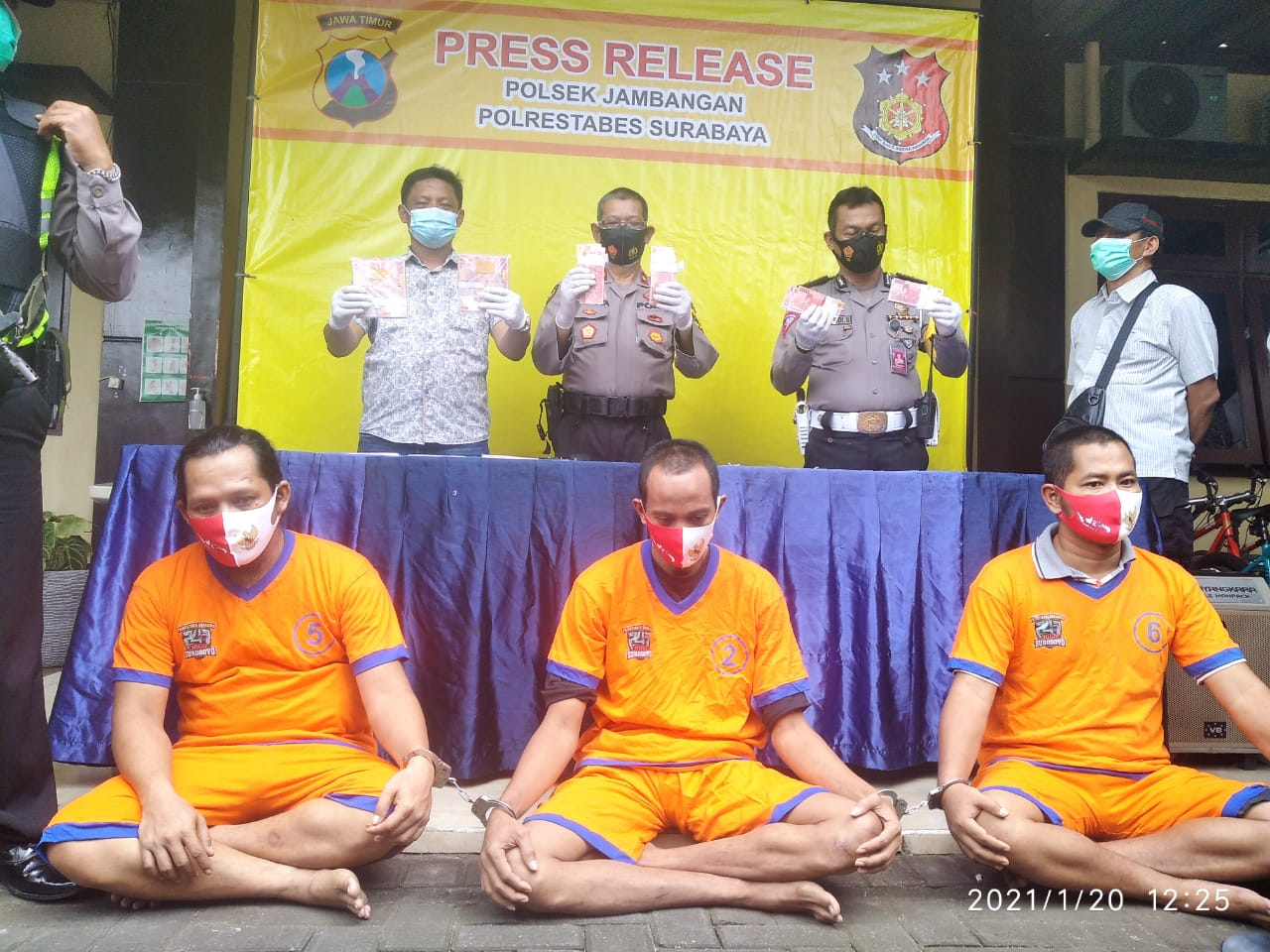 Unit Reskrim Polsek Jambangan Gagalkan Peredaran Uang Palsu 245,9 Juta