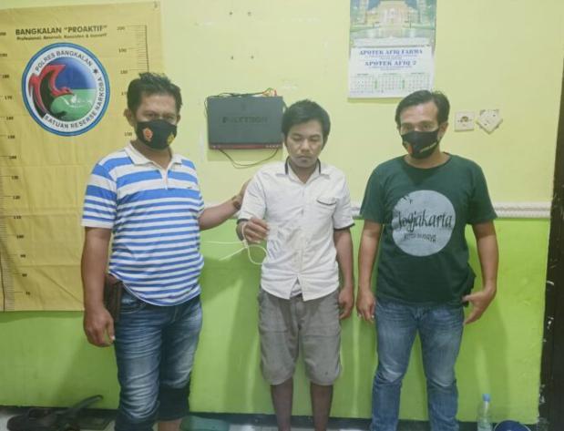 Unit Reskrim Polsek Blega Ringkus Pengedar Sabu-sabu Asal Blega