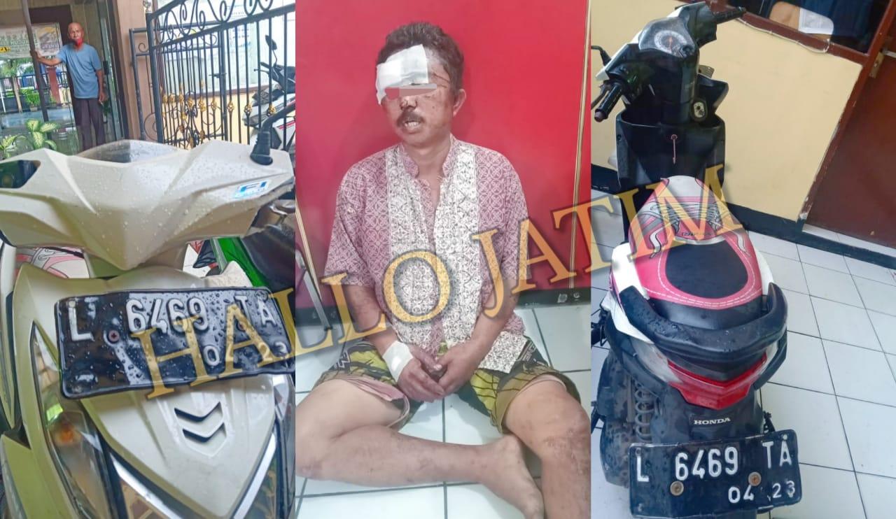 Polisi bekuk Pelaku Curanmor Yang Dipermak Oleh Warga Surabaya