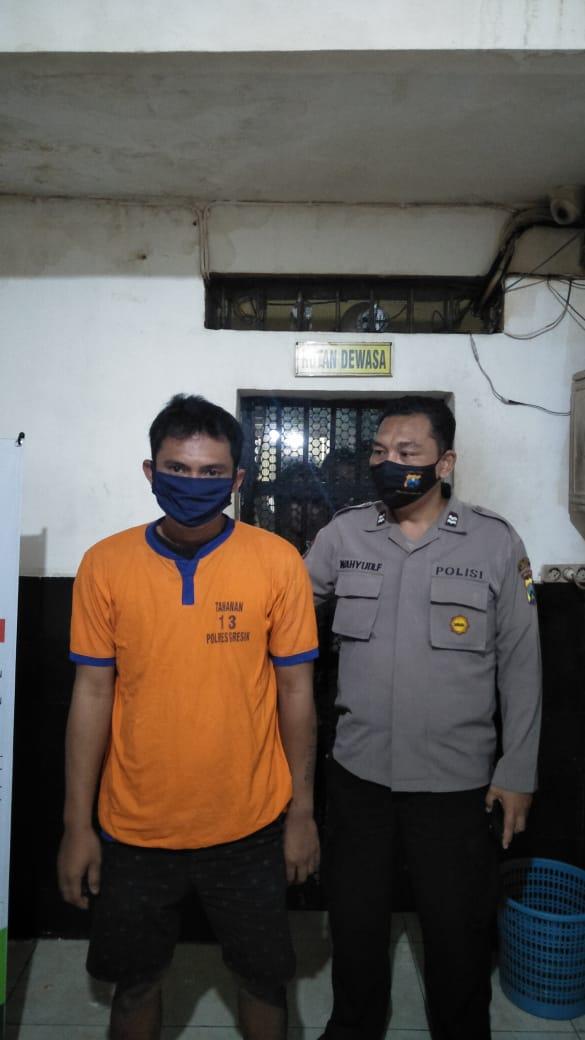 Memakai Masker Hitam, Pemuda Surabaya Disergap Polisi Gresik, Ga Taunya Pengedar Narkoba