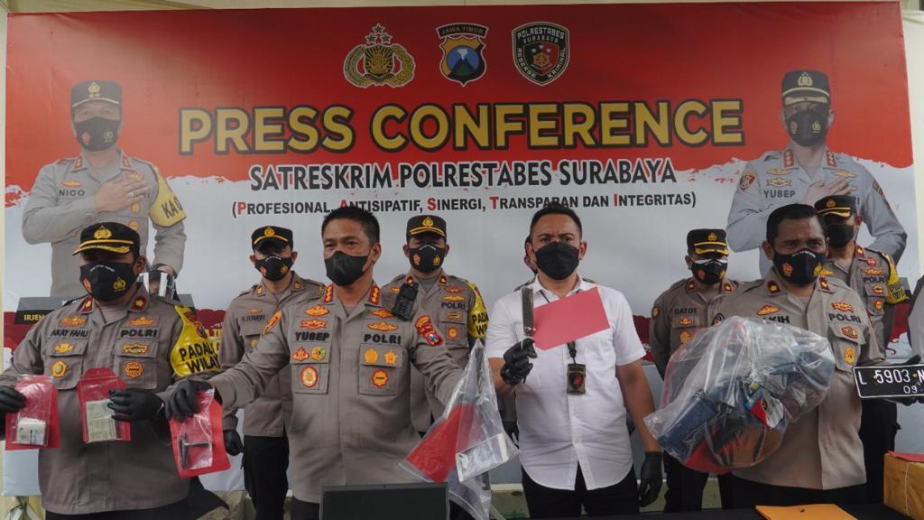 Satreskrim Polrestabes Surabaya Ungkap 41 Kasus Dan Amankan 49 Tersangka Dalam Satu Bulan